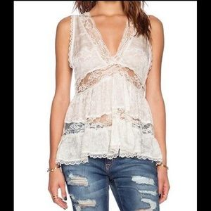 Free People Intimately Deep V Trapeze Cami